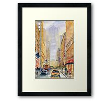On The Way To Freedom Tower Framed Print