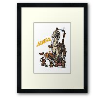 Java Party Text Faded Framed Print