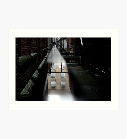 the building in the water on the bannister Art Print