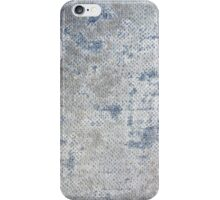 Texture of blue old vintage denim fabric iPhone Case/Skin