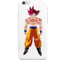 Goku Super Sayan GOD! iPhone Case/Skin