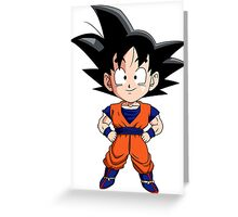 Goku Chibi Greeting Card
