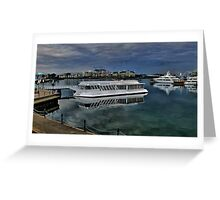 Evening at the undersea Gardens Victoria BC Greeting Card