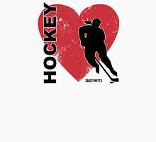 Love Hockey Heart Womens Fitted T-Shirt