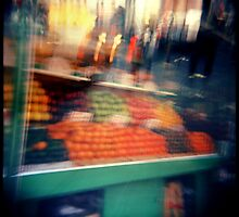 fruit stand by Shannon Holm