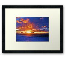 Skyscape Seascape Framed Print