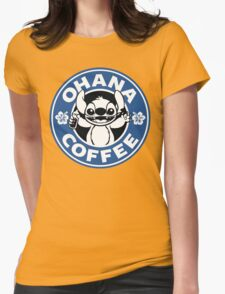 Ohana Coffee - Blue Version Womens Fitted T-Shirt
