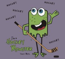 Hockey Monster Green Kids Clothes