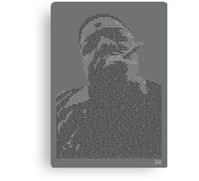 Biggie Lyric Portrait Canvas Print