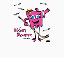 Hockey Monster Pink Womens Fitted T-Shirt