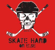 Hockey Skull Skate Hard by SaucyMitts