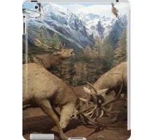 Natural environment diorama - Two deers fighting  iPad Case/Skin
