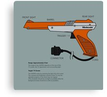 Nes Zapper Shoot them! Canvas Print