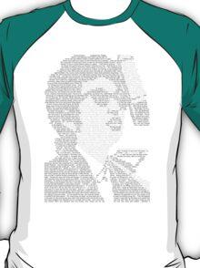 Bob Dylan Lyric Portrait T-Shirt