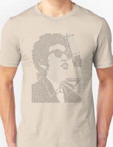 Bob Dylan Lyric Portrait Unisex T-Shirt