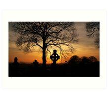 celtic sunset Art Print