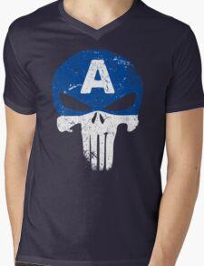 Captain Punisher Mens V-Neck T-Shirt