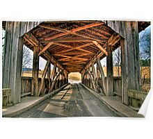 Luthers Mills Covered Bridge Poster
