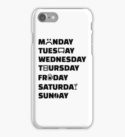 Week planner hobbies to do list iPhone Case/Skin