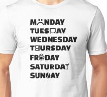 Week planner hobbies to do list Unisex T-Shirt