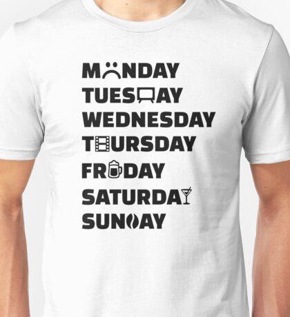 Week planner hobbies to do list Unisex T-Shirt