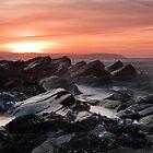Wave Mist on the Rocks by kernuak