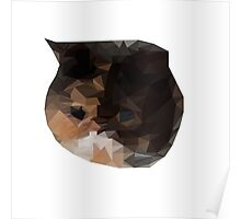 Low Poly - Cat  Poster