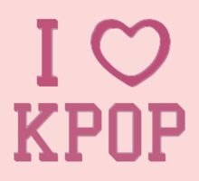 I HEART KPOP - BLUE Kids Tee