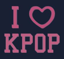 I HEART KPOP - BLUE One Piece - Short Sleeve