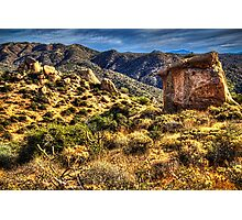 Monolith on the Trail at Sears-Kay Ruins Photographic Print
