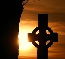 Sunset High Cross by Martina Fagan