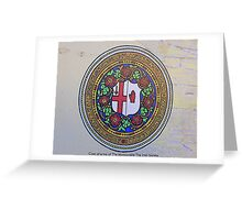 The Irish Society Coat Of Arms..................Derry Greeting Card