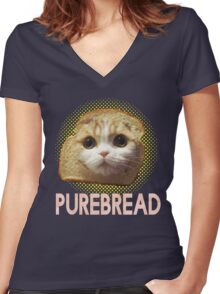 Purebread Women's Fitted V-Neck T-Shirt