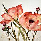 Orange Poppies by arline wagner