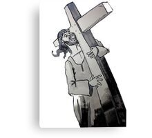 Carry your Cross Canvas Print