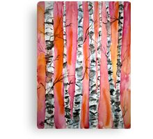 birch tree watercolor painting Canvas Print