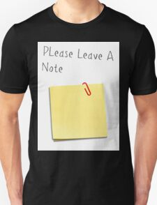 Please Leave A Note T-Shirt
