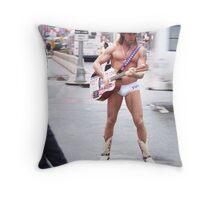 Naked Cowboy Throw Pillow