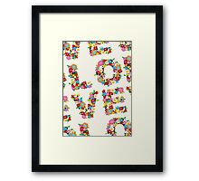 LOVE Spring Flowers Framed Print