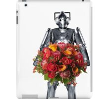 cyberman with flowers  iPad Case/Skin