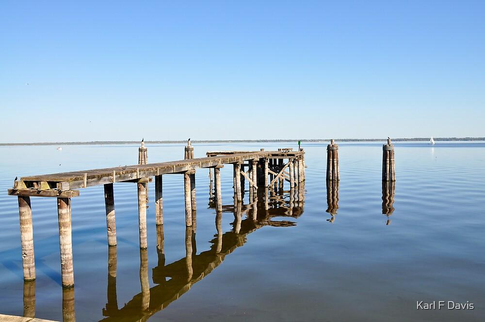 Old Fishing Pier By Karl F Davis Redbubble