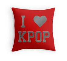 I HEART KPOP METAL - RED Throw Pillow