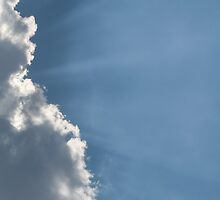 Cloud and Sunbeams Vertical by Inimma