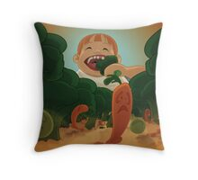 Don't Play With Your Food Throw Pillow