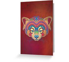 The Mystic Red Panda Greeting Card