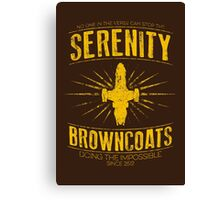 Serenity Browncoats Canvas Print