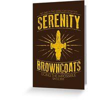 Serenity Browncoats Greeting Card