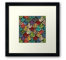 scallop scales Framed Print