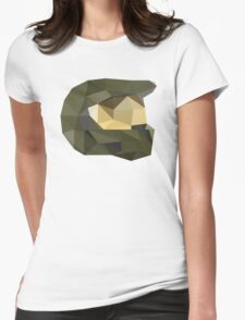 Low Poly - Master Chief Womens Fitted T-Shirt