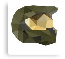Low Poly - Master Chief Canvas Print